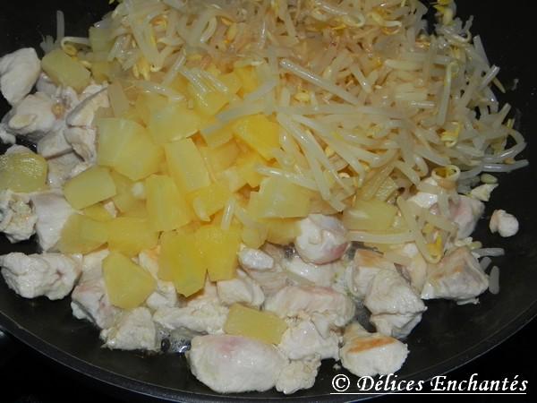 Poulet ananas soja avant cuisson