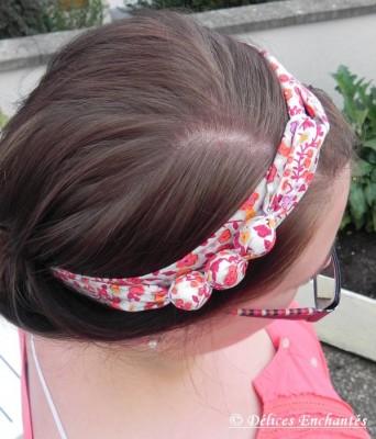 Bandeau cheveux cotillons