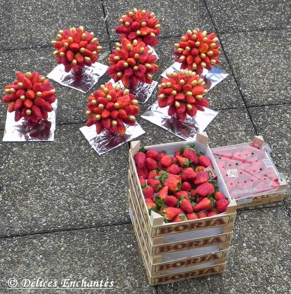 Admirable Pâques – Bouquet de fraises – Délices Enchantés TO-21